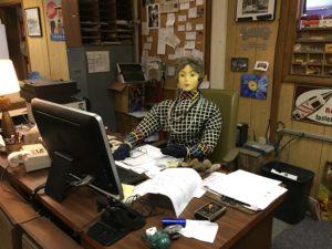 Tilly at Kevin's Desk