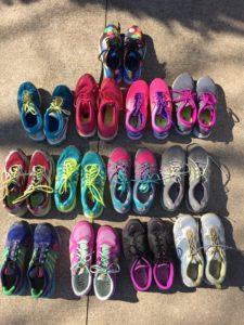 13 pairs of sneakers