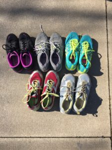Donated sneakers