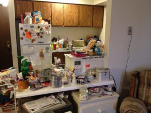 "alt=""a messy kitchen is not sanity """